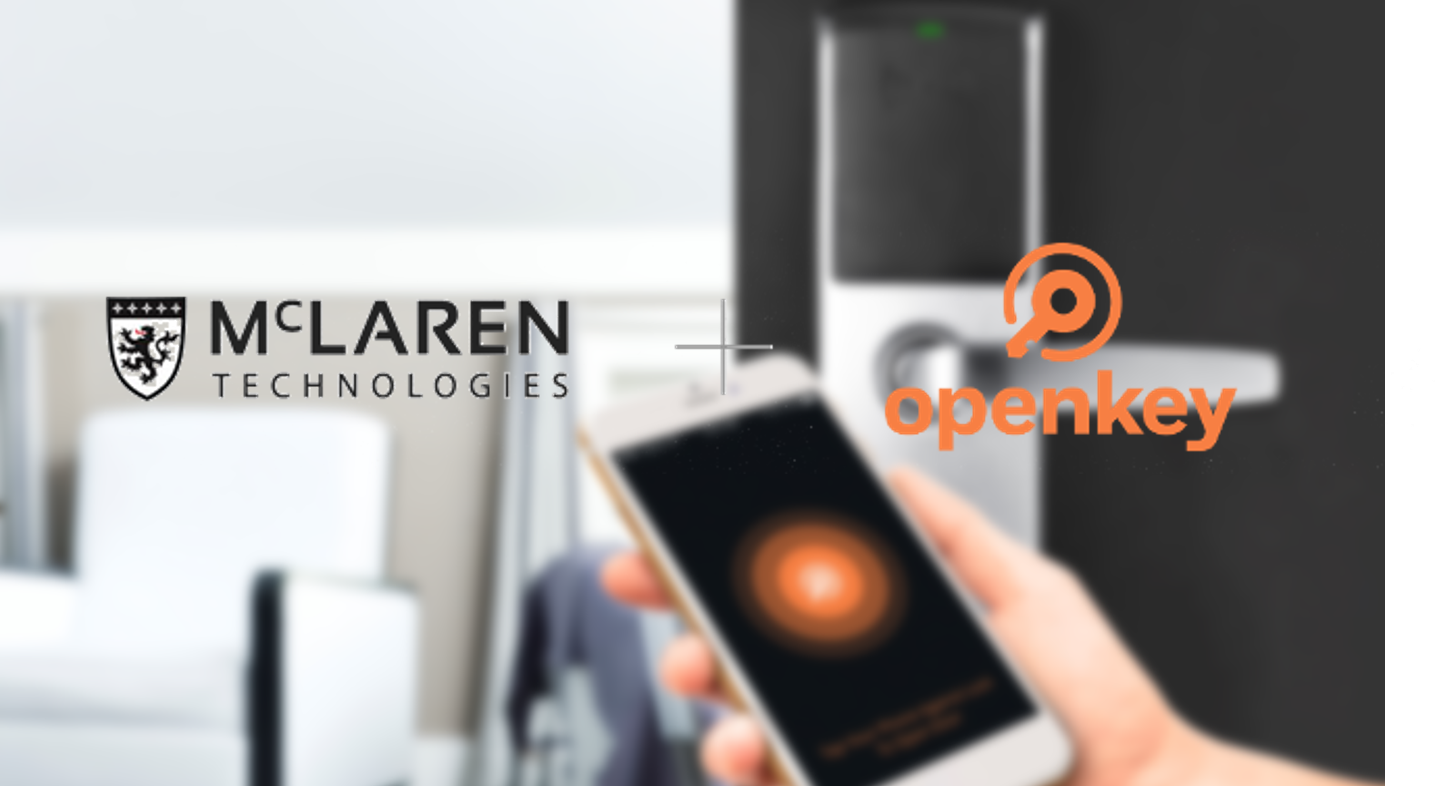 McLaren plus Openkey blurred